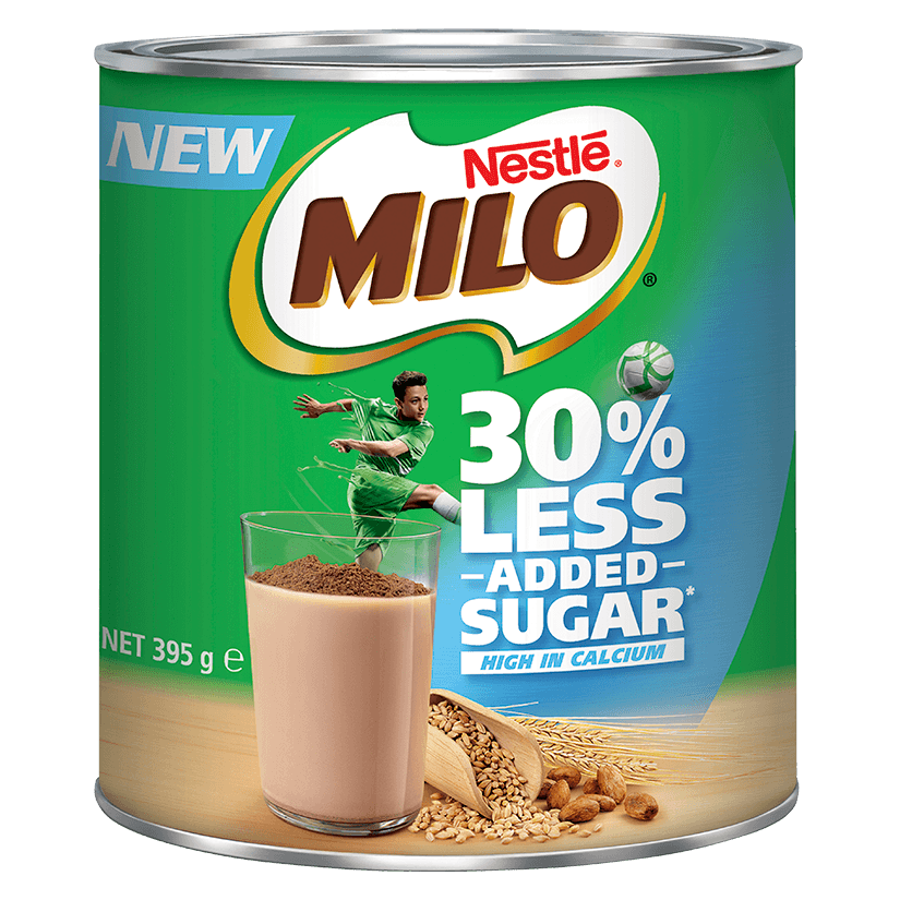 MILO<sup>®</sup> 30% LESS ADDED SUGAR